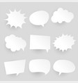 papercut style comic chat bubbles and expressions vector image