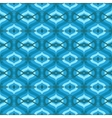 pattern with arabic motifs in shades blue vector image vector image