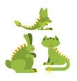 prehistoric rabbit dinosaur dino cat raptor vector image vector image
