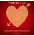 Red sequin background I love you Valentines Day vector image vector image