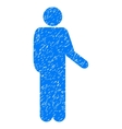 Relax Standing Pose Grainy Texture Icon vector image vector image