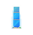 residential building isolated house vector image