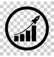 Rocket Startup Bar Chart Icon vector image vector image