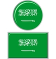 Saudi Arabian round and square icon flag vector image vector image