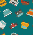 Seamless cars background and pattern vector image