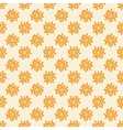 Seamless pattern with abstract orange flowers vector image vector image