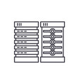 servers line icon concept servers linear vector image