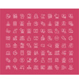 set line icons freelancer and online vector image
