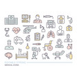 set medical on theme diagnostics vector image