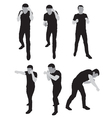 silhouettes stand for sparring vector image vector image