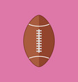 simple flat style football rugby ball sport vector image