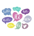 Speech bubbles with handwritten words Hand drawn vector image