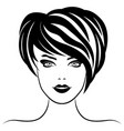 stylized womans face vector image vector image