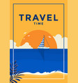 summer background flat design travel time vector image