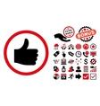 Thumb Up Flat Icon with Bonus vector image vector image