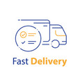 truck delivery distribution service check list vector image