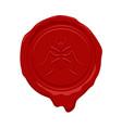 wax seal design vector image vector image