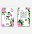 wedding invitation card with watercolor concept vector image vector image