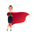 woman superhero cartoon character wonder woman vector image