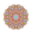 circular floral ornament in east style round vector image