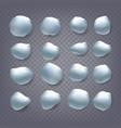snowballs set snowballs snowdrift new vector image