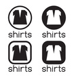 icons of shirts vector image