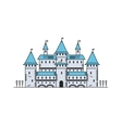 Fairy tale medieval castle Line icon vector image
