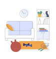 a place for sports exercises at home fitness vector image