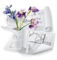 Architectural background with a flower vector image vector image