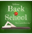 Back to school background template EPS 10 vector image