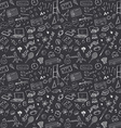 Back to School seamless pattern with Hand-Drawn vector image vector image