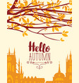 banner on autumn theme with urban landscape vector image vector image