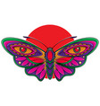 beautiful butterfly flash tattoo vector image vector image