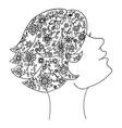 beauty zen tangle woman vector image vector image