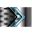 blue light arrow direction on silver circle mesh