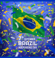 brazilian independence day card vector image vector image