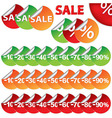 Bright Sale Stickers vector image vector image