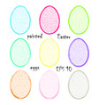 brush painted easter egg stickers eps 10 vector image