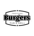 burgers vintage sign black logo vector image
