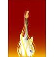 Burning Guitar vector image vector image