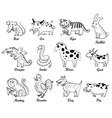 chinese astrology isolated on white background vector image vector image