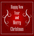 christmas and new year typographical on xmas vector image vector image