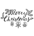 Christmas calligraphic lettering vector image vector image
