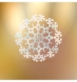 Christmas gold background with snowflake vector image vector image