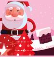 christmas santa claus design vector image