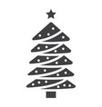 christmas tree glyph icon new year and christmas vector image