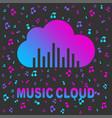 cloud music cloud logo logo template vector image