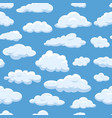 clouds seamless pattern on blue sky background vector image