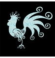 Cock Vintage fabulous silhouette pattern bird vector image vector image