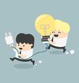 Concept Cartoons Business get an idea vector image vector image